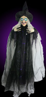 """72"""" Life Size Hanging Wicked Witch Spooky Sayings Halloween Prop"""