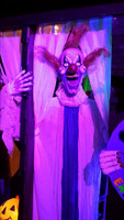 """60"""" Life Size Hanging Clown with LED Eyes Halloween Prop Decoration"""