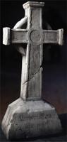 "40"" Gothic Gravestone Distortions Unlimited Cross Graveyard Cemetery Halloween Tombstone Headstone Static Prop"
