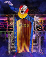 Towering Animated 10' Looming Clown Walk through Halloween Prop Decoration