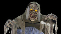 Towering Animated 10' Looming Ghoul Walk through Halloween Prop Decoration
