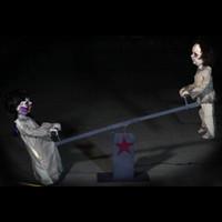 6' Animated Teeter-Totter Kreepy Kids Posable Creepy Toddler Halloween Prop