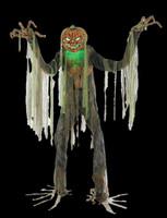 7' Life Size Animated Root of Evil Scarecrow Jack O' Lantern Head Halloween Prop Decor