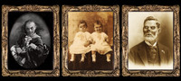 3 Haunted Changing Holograph Portraits Halloween Possessed, Twins, Pappa Fungus Prop Decoration