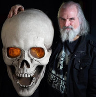 "Giant 30"" Flickering Light Eyes Super Skull Halloween Prop Distortions Unlimited"