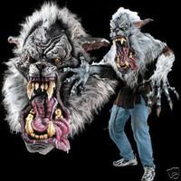Huge Extreme Adult Werewolf Halloween Mask Wolf Midnight Howl  Costume Creature Reacher