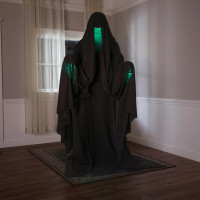 """Life Size 72"""" Animated Hooded Reaper Halloween Prop"""