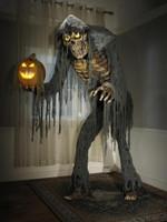 7' Life Size Animated Prowling Jack Stalker Reaper Pumpkin w/ Halloween Prop Decor