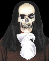 Deluxe Gothic Skull w/ Long Hair Sunglasses Vampire Halloween Costume Mask