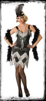 Adult Charleston Cutie Prohibition Flapper Roaring 20's 1920's Halloween Costume