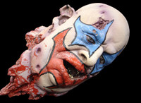 Very Realistic Life Size Fat Large Severed Clown Head Halloween Prop Decor