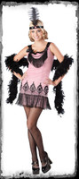 Junior Sizes Flirty Flapper Dress Roaring 20's 1920's Pink Halloween Costume