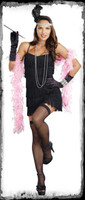 Adult Black Basic Flapper Polyester Roaring 20's 1920's Halloween Costume