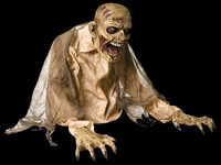 Animated Life Size Gaseous Zombie Blowing Fog Halloween Prop Decor FX Effects
