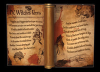 "Large 16.75""  Animated Dark Magic Spells Witch Book Halloween Prop Decoration"