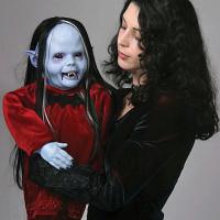 Life Size Nocturna Baby Blue Vampire Vampiress Puppet Halloween Prop Decoration