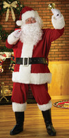 Adult Plush Regal Santa Claus Saint Nick Suit Complete Christmas Costume
