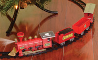 4 Piece Winter Express Christmas Head Light Tree Train Set Track Decor