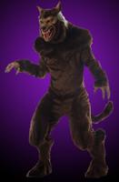 Deluxe Adult Full Moon Werewolf Halloween Party Mask & Costume