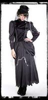 Gothic Ghost Mistress Dress & Hat Halloween Costume