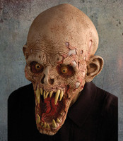 Shell Shocked Rotting Flesh Popainted Teeth Corpse Creature Halloween Costume Mask