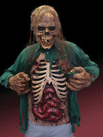 Realistic Gore Chest Zombie Guts Flesh Eater Latex Halloween Costume Accessory