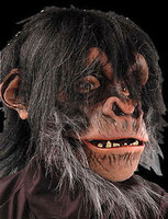 Realistic Chimp Monkey Ape Moving Mouth Halloween Costume Mask