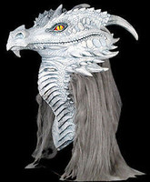 Premiere Gray Ancient Dragon Halloween Costume Mask