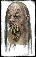 Possessed Nightmare Creature Gaping Mouth Huge Teeth Halloween Costume Mask