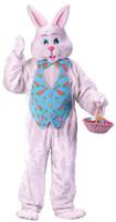 Plush Adult Easter Bunny Rabbit Mascot Mask & Costume
