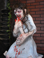 Life Size Possessed Little Girl Dead Debbie Halloween Prop Decoration Decor