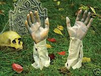 Life Size Pair Arms Cemetery Graveyard Halloween Prop