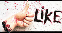 Life Size Bloody Severed Hand Thumbs Up Facebook Like Halloween Prop Decoration