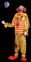 Life Size Animated Evil Zombie Moving Talking Circus Clown Halloween Prop