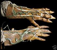 Latex Pumpkin Rot Halloween JackOLantern Costume Hands Arms Gloves Accessories