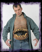 Hunger Pains Chest Piece Circus Freak Halloween Costume Torso Accessory