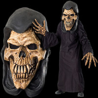 Huge Extreme Adult Grim Reaper Skull Halloween Costume Mask Creature Reacher