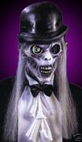 Gothic Dapper Ghoul Creepy Halloween Mask Costume Prop