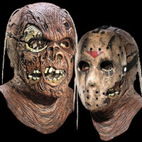 Friday 13th Part 7 Deluxe Double Overhead Jason Halloween Mask Hockey Shield