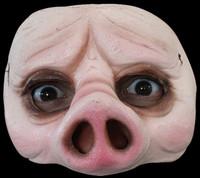 Comfortable Realistic Pig Face Piggy Latex Halloween Costume Half Mask