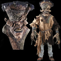 Huge Extreme Adult FreaknMonster Frankenstein Monster Halloween Costume Mask Creature Reacher