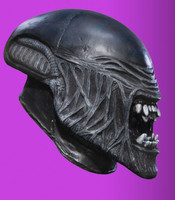 Child Alien Movie Creature Gaping Mouth 3/4 Halloween Costume Mask