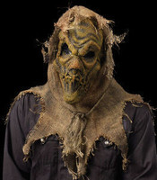 Burlap & Latex Scarecrow Zombie Halloween Mask Costume