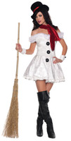 Adult Sexy Snowed In White Snow Christmas Winter Gothic Halloween Costume