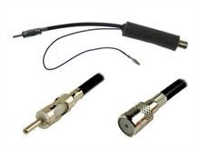 21-120 ISO to DIN Antenna Adapter Lead with 12v Power Feed