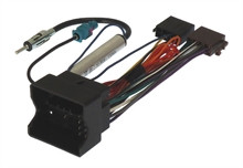 VW Group Quadlock to ISO Radio Adapter Harness, with Antenna Adapter, Hardwire Ignition