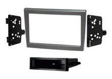 Porsche 987 and 997 Single and Double DIN Radio Fascia Adapter Panel, Silver Flush Fit