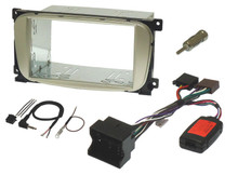Ford double din fitting kit with steering controls (OVAL SHAPE - SILVER)