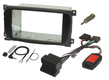 Ford double din fitting kit with steering controls (OVAL SHAPE - BLACK)