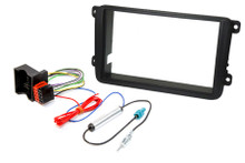 FK-714 Volkswagen stereo double din car stereo upgrade fitting kit for hardwire ignition.